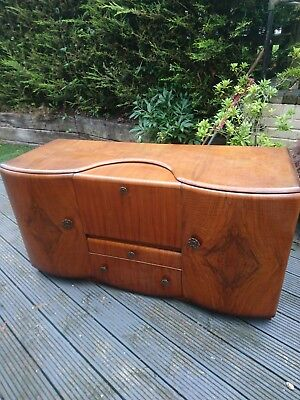 Vintage 1950s Sideboard Walnut Retro