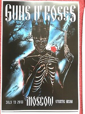 Guns N Roses - Moscow Poster Lithograph Arian Buhler 205/250 Otkritie  Russia