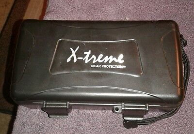 X-Treme Cigar Protection Travel Humidor black case w cutter
