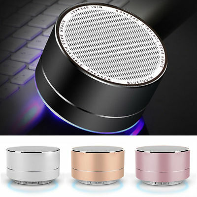 Portable LED Wireless Bluetooth Stereo Mini Speaker FM MIC For Smartphone Tablet