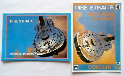 DIRE STRAITS 'Brothers in Arms' Postcards - 2 x Vintage Dire Straits Postcards