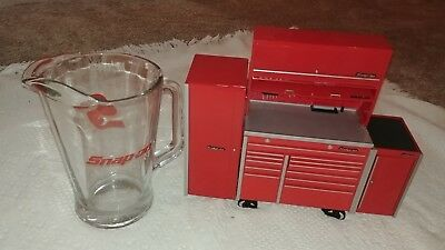 Snap-On Minature Collectible Tool Box Coin Bank Vintage Coin Bank w. Pitcher
