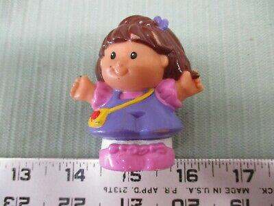 1e0e45aeb Fisher Price Little People Family Mom part Girl Lady woman Latino teacher  purple