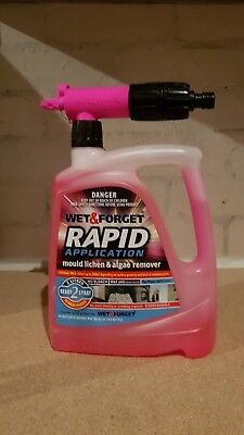 WET & FORGET Rapid Application Mould Lichen & Algae Remover with Spray Nozzle 2L