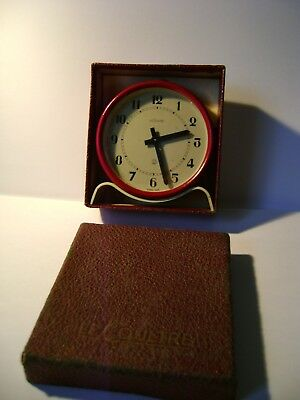 Vintage Lecoultre 2 Day Desk / Alarm Clock Still In Its Original Box