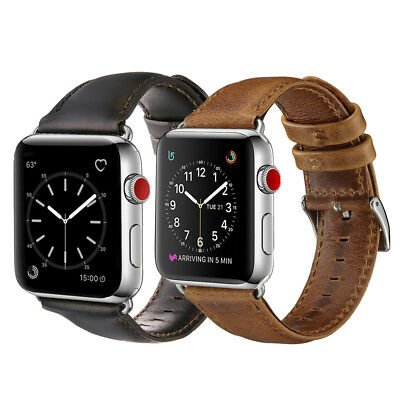 38mm/42mm Retro Genuine Leather iWatch Band Casual Strap for Apple Watch 4 3 2 1