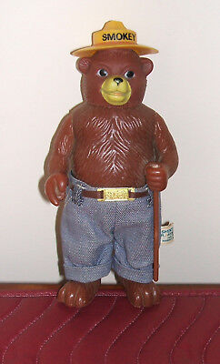 "SMOKEY the Bear Standing Rubber Toy Doll Vintage DAKIN 8 1/2"" Tall-Denim Jeans"