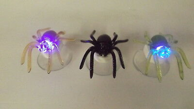 New Set of 3 Color Changing Halloween Spider With Suction Cup 2275400
