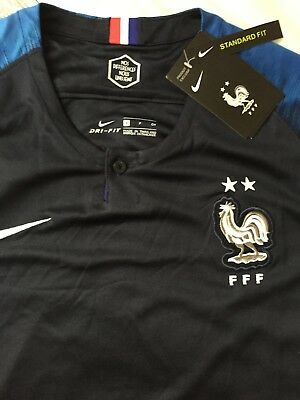 06786f8c672 NEW France World Cup 2018 Champions 2 Star Home Jersey Sz. Small Pogba  Griezmann