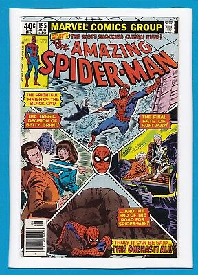 AMAZING SPIDER-MAN #195_AUGUST 1979_VERY FINE_2nd APPEARANCE OF THE BLACK CAT!