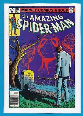 "Amazing Spider-Man #196_September 1979_Very Fine+_""aunt May...rest In Peace""!"