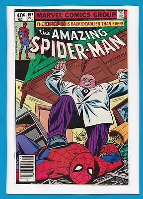 "Amazing Spider-Man #197_October 1979_Vf Minus_""the Kingpin's Midnight Massacre""!"