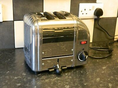 dualit  2 slice toaster  in chrome and stainless steel