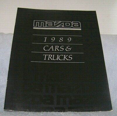 1989 Mazda cars and trucks sales brochure RX7