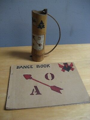 Vintage Boy Scouts Of America Order Of The Arrow Wooden Quiver & Dance Book