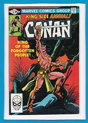 """Conan King-Size Annual #6_1981_Very Fine Minus_""""king Of The Forgotten People""""!"""