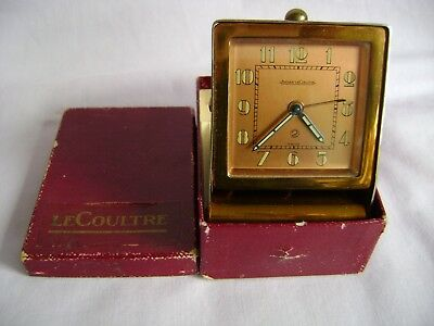 Vintage Jaeger Lecoultre 2 Day Travelling Desk / Alarm Clock In Gd Working Order