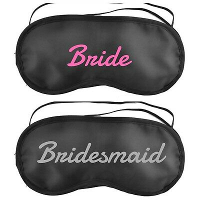 Personalised Sleep Eye Mask Spa Pamper Party Bag Filler Bride Hen Night Gift V40