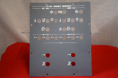 Aircraft Cockpit Circuit Breaker Panel - Used - Grey