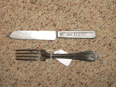 Us M1902 Ria Fork And Knife Set. Includes New Made Covers