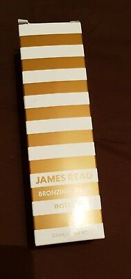James Read Instant Bronzing Spray Tinted Self Tan Mist 100% Genuine Bnib 200Ml