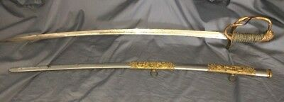 Antique M.C Lilley & Co Columbus Ohio Knights of Pythias Calvary Officer Sabre