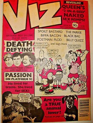 Viz Comic Issue 35 April 1989 Adult Humour The Parkie Barry The Cat Vg Condition