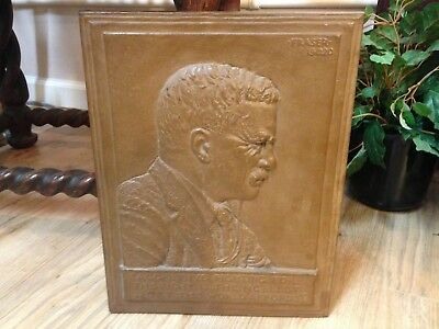 Theodore Teddy Roosevelt 1920 Fraser Large Bronze Wall Plaque