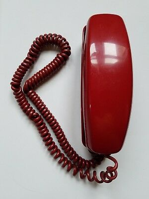 Vintage Western Electric Trimline Rotary Dial Telephone Red