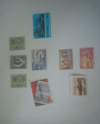 9 stamps from Tonga in nice condition