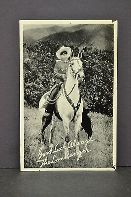 Vtg Lone Ranger Silvercup Bread Advertising Card Radio Schedule Photo 3.5 x 5.5