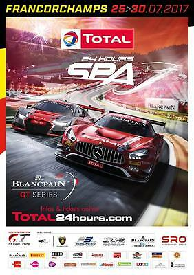 Plakat 24h Spa Francorchamps 2017 Blancpain GT Series Poster