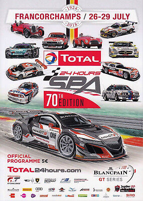 Programm 24h Spa Francorchamps 2018 Blancpain GT Series