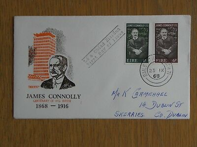 Ireland Eire - 1968 James Connolly Birth Centenary First Day Cover FDC