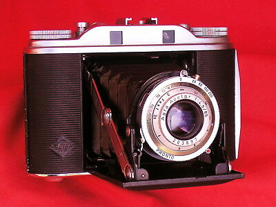 Agfa Isolette lll, f/4.5 Apotar,  case, all working, bellows relaced, good cond.