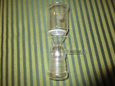 "Vintage "" What Is It "" Glass Suction Filter Buchner Funnel???"