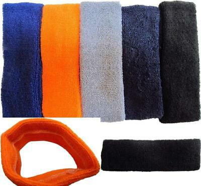 Absorbent 5 Pack Headband Sports Stretch Head Sweat Band Bandage Lot Hair Men