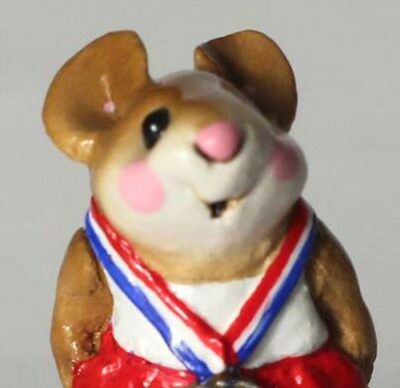 Wee Forest Folk Victor! Olympics Gold Medal Mouse MS-18