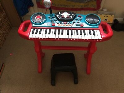 Elc Carry Along Keyboard Red With Music Sheet 700 Picclick Uk