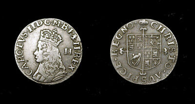 Great Britain - Moundy 2d. Charles II , 17 century ,great state for type, silver
