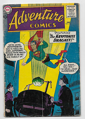 Adventure Comics #256 DC 1959 Silver Age Green Arrow Origin Superboy Aquaman