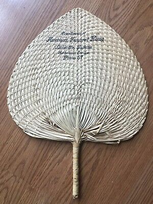 RARE Hartman Funeral Home ambulance service  Lakeville, Indiana wicker  Fan