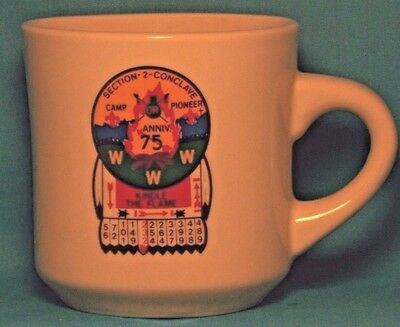 BOY SCOUTS BSA Section-2-Conclave CAMP PIONEER 75th Anniversary COFFEE CUP / MUG