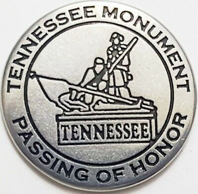 Tennessee Monument - Shilo National Military Park token - Passing of Honor