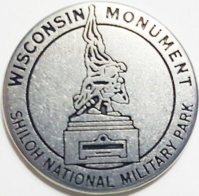 Wisconsin Monument - Shilo National Military Park token