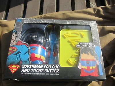 Superman Egg Cup And Toast Cutter Boxed Dc Originals