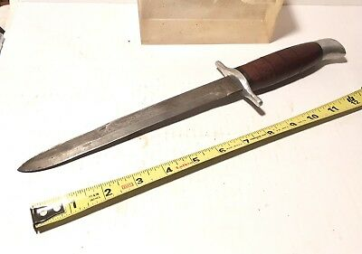 Vintage WWII  US Classic Theater Combat Knife Hand Made Vet's Estate Nice!