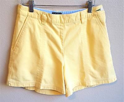 Tommy Hilfiger Shorts Womens size 8 Yellow High Waisted Vintage 1990s Cotton
