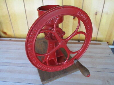 vtg old antique cast iron coffee grain grinder model no. 1 1/2 The C.S. Bell Co.