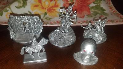 Lot of 5 Rawcliffe Pewter Medieval Figurine Dioramas - Tom Meier